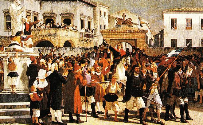 La Sarda Rivoluzione (1793-1796) ingresso trionfale di Giovanni Maria Angioy a Sassari - opera Giuseppe Sciuti, 1879)
