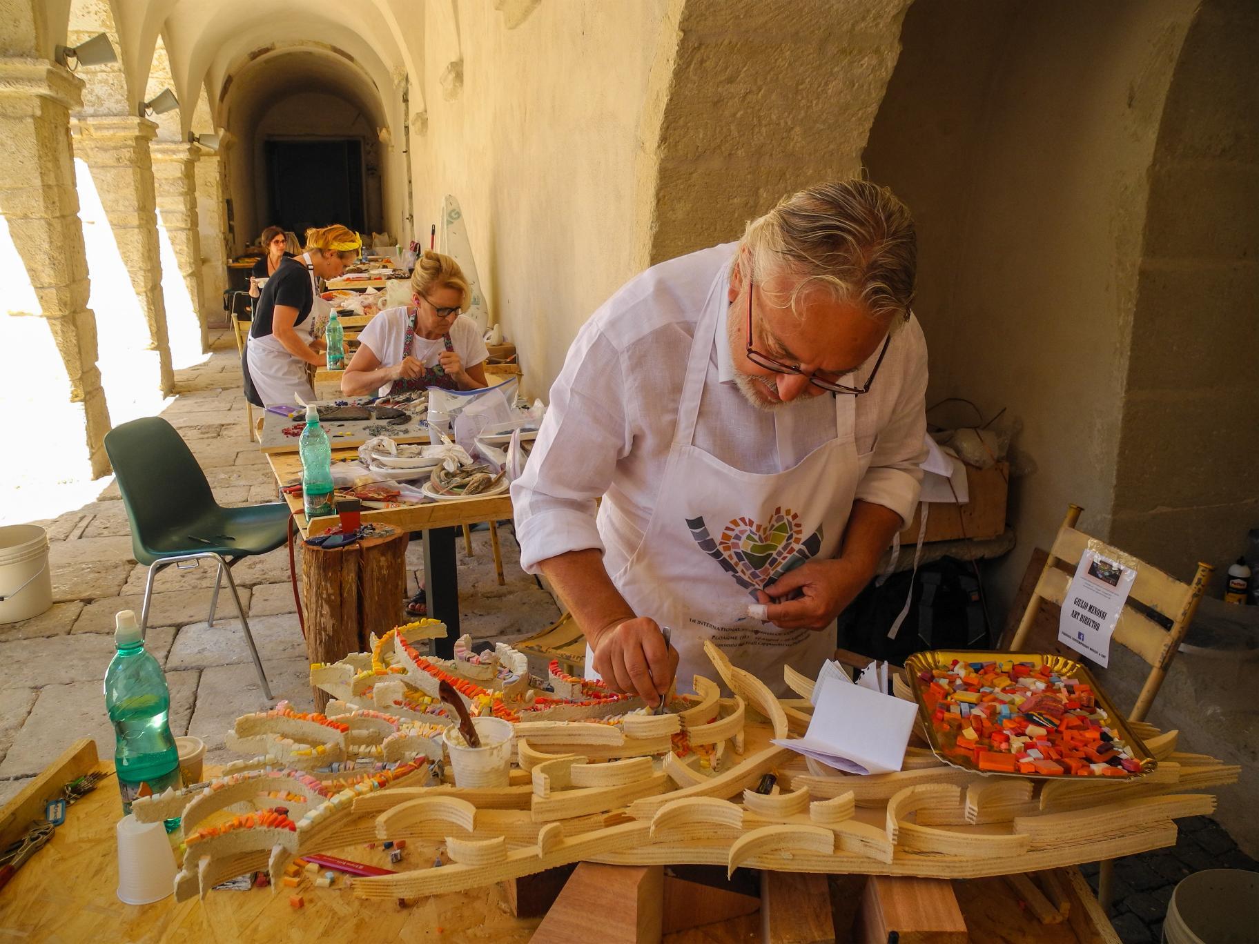 Primo Simposio Internazionale di Mosaico in Sardegna (ph Giovanni Salis)