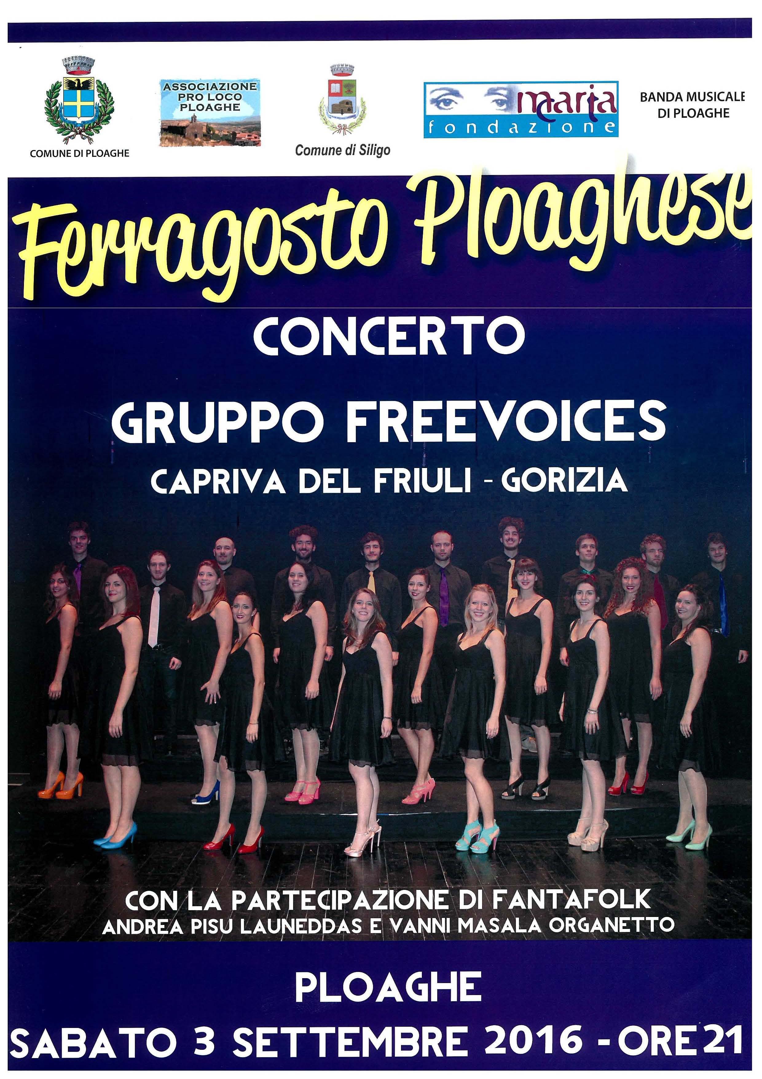 """Concerto del Coro """"Freevoices"""""""