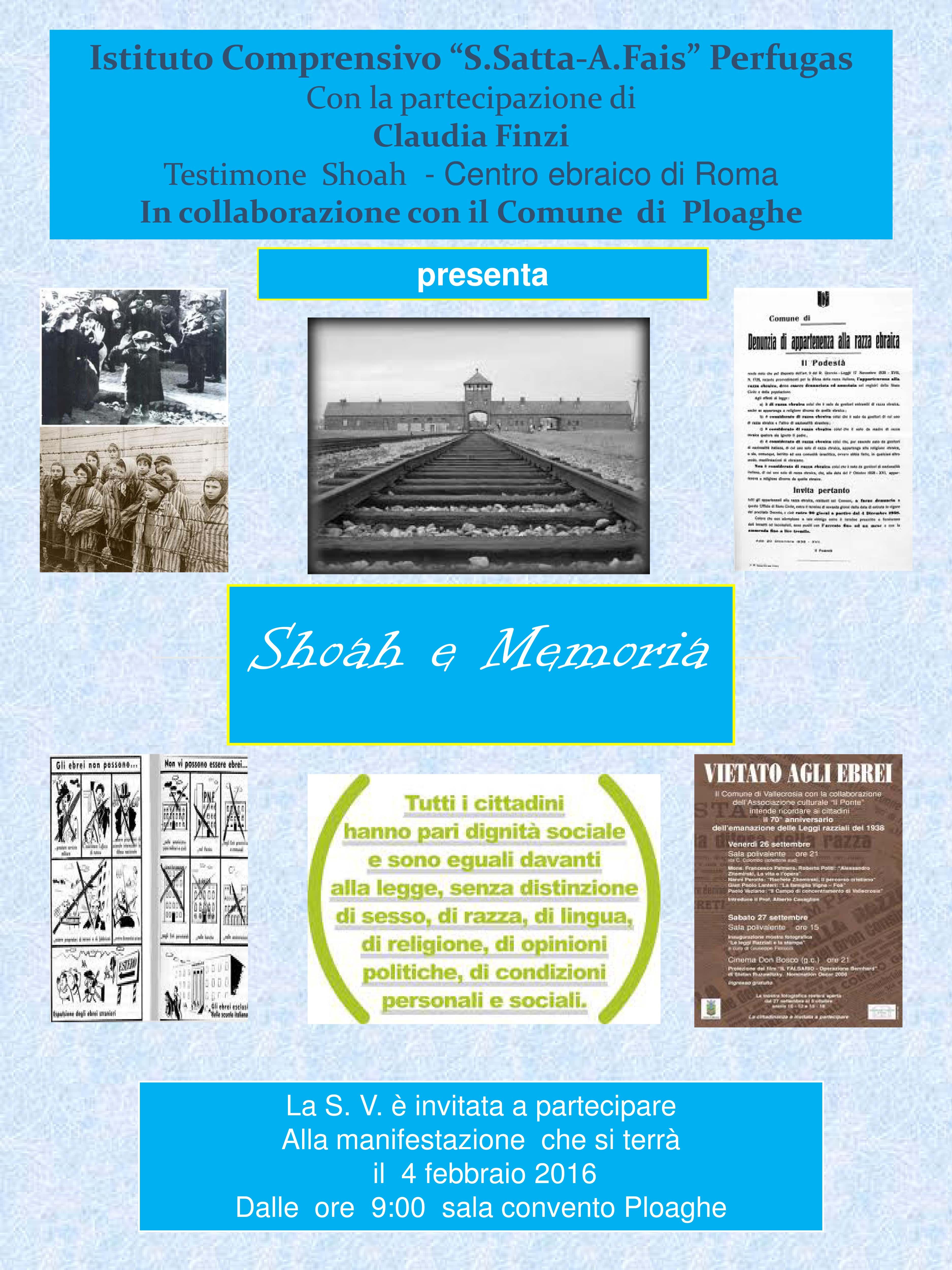 Locandina Giornata della Memoria